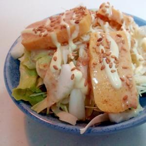 レタス・キャベツ・白菜芯・玉子焼きのサラダ