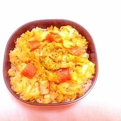 カニカマ&炒り卵のお弁当