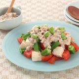 オクラと豆腐の肉みそサラダ