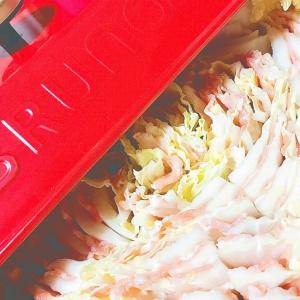 ゴマだれではなくゴマドレで白菜豚肉のミルフィーユ鍋