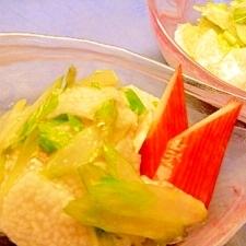 セロリと長芋の酢の物