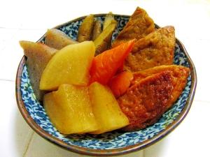 圧力鍋と鍋キューブで簡単手間なし♪根菜の煮物