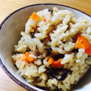 しじみの佃煮の炊き込み御飯☆玄米入り