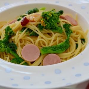 *菜の花と魚肉ソーセージのぺぺロンチーニ*