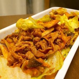 旬のシャキシャキレタスで がっつり豚キムチ