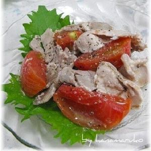 ヘルシー豚肉とトマトのさっぱりマリネ!