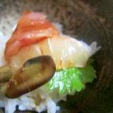 茄子糠漬鯛と鮪紫蘇丼ぶり