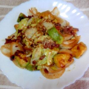 焼肉のタレdeアボカドの野菜炒め