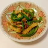 ずぼらレシピ★ピーマンと油揚げの焼き肉のタレ炒め
