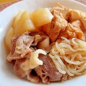 旨味の強い豚肉と一緒に作る「大根の煮物」