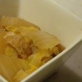 油あげと白菜と大根の煮物