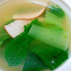 シンプル☆チンゲン菜とハムのスープ