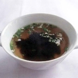 海苔とねぎのスープ