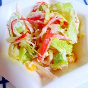 カニカマと春キャベツのサラダ