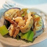 夏はピリ辛!茄子と中華クラゲの炒め物