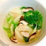 白菜とワンタンの☆簡単中華スープ