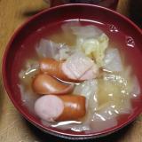キャベツウインナースープ