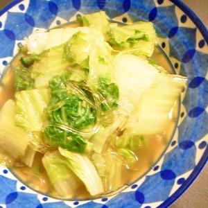 白菜とくずきりのダシダ煮