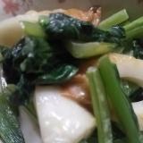 茹で小松菜de竹輪の炒めもの