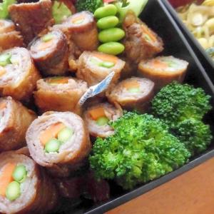 お弁当にも♪牛肉のピリ辛野菜巻き