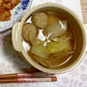 肉団子と野菜のあっさり和風スープ