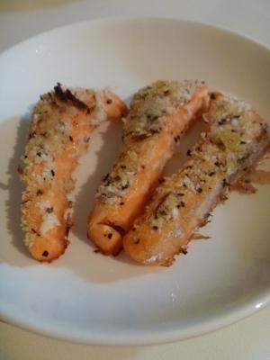 お弁当に◎サーモンのバジルチーズパン粉焼き