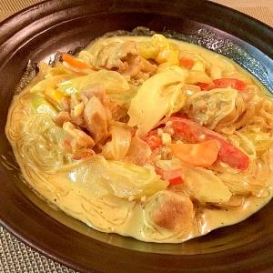 Thai☆鶏肉と春雨のココナッツカレー炒め