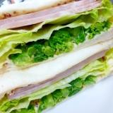 サンドイッチに春が来た♪ハムと菜の花サンド
