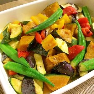 夏野菜たっぷりなカラフルマリネ