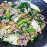 野菜たっぷり肉野菜炒め