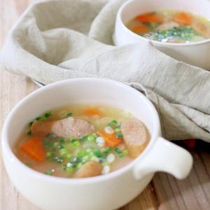 大根・ソーセージ・押麦のやさしいスープ