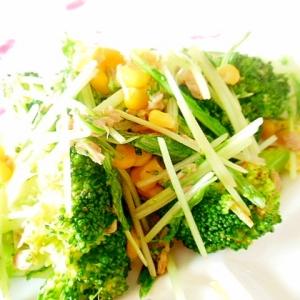 ❤ツナと水菜とブロッコリーのスパイス炒め❤
