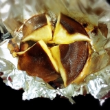 自家製の肉厚の生椎茸のホイル焼き