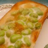 マスカルポーネ&枝豆マーマレードのトースト