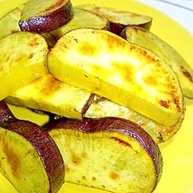 サツマイモの塩バター焼