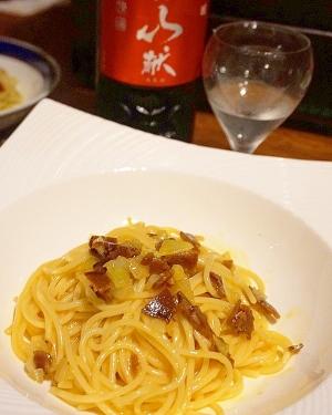【新潟食材】村上鮭の酒びたしカルボナーラ