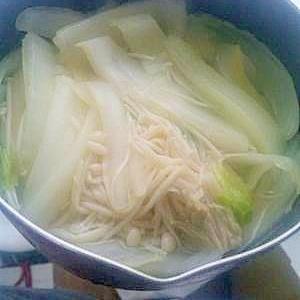 簡単 芯までやわらか白菜スープ