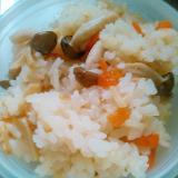 コンソメで洋風☆しめじ人参&筍の炊き込みご飯