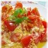 ふんわりトマトの卵とじ
