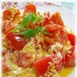 トマトのソテー!ふんわりトマトの卵とじ