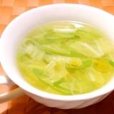 白菜とねぎの中華スープ