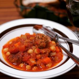 ミートボールとひよこ豆のトマト煮