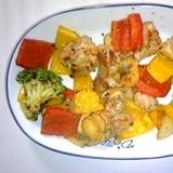 超簡単☆鶏肉とパプリカのカラフルバジル風味炒め