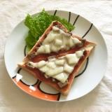 ごろごろマルシンハンバーグのケチャチーズトースト♡