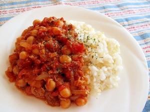 楽チン缶詰クッキング♪サバとひよこ豆のトマトカレー