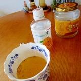 ホットな生姜きな粉オレンジジュース
