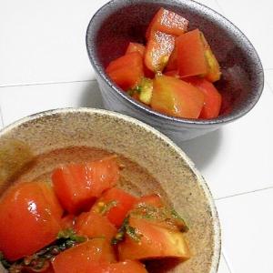 トマトの簡単和風サラダ