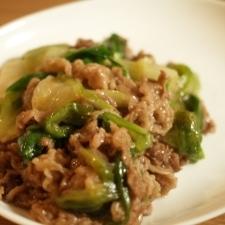 豚こま肉とキャベツの簡単中華炒め