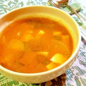 じゃがいもと大根の韓国風スープ
