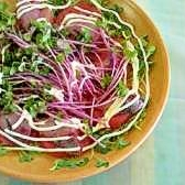鯵のカルパッチョ風サラダ